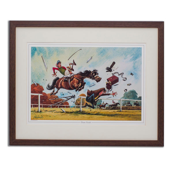 Fun horse racing print. Photo Finish by Thelwell