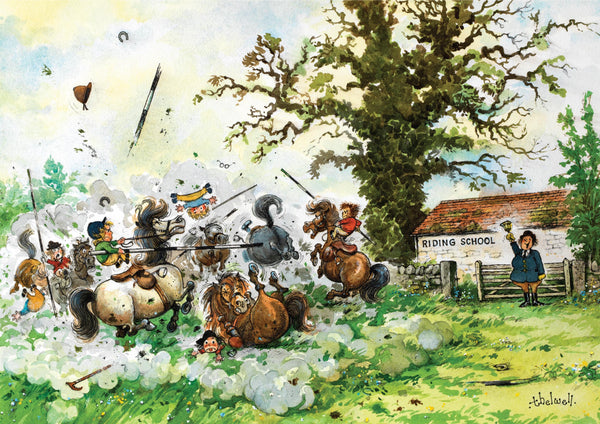 "Horse or Pony Greeting Card ""Playtime's Over"" by Norman Thelwell"