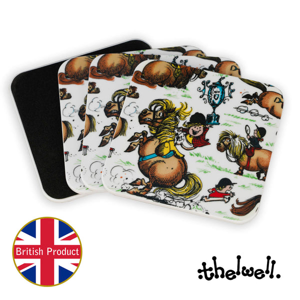 Thelwell Pony coaster set