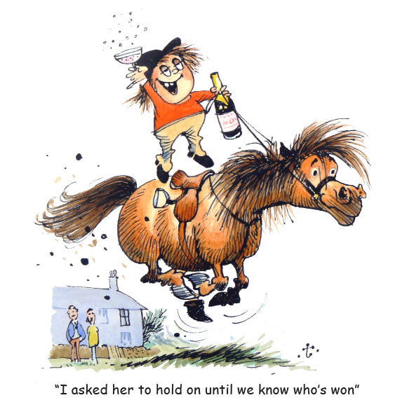 Horse or Pony Greeting Card Celebration by Norman Thelwell.