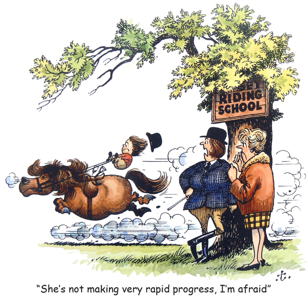 "Horse or Pony Greeting Card ""Rapid Progress"" by Norman Thelwell"
