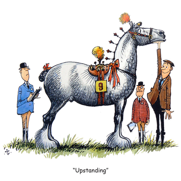 "Horse or Pony Greeting Card ""Upstanding"" by Norman Thelwell"