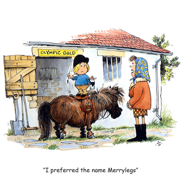 "Horse or Pony Greeting Card ""Merrylegs"" by Norman Thelwell"