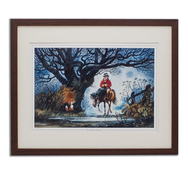 Horse and hunting cartoon print. The Return Home by Norman Thelwell.