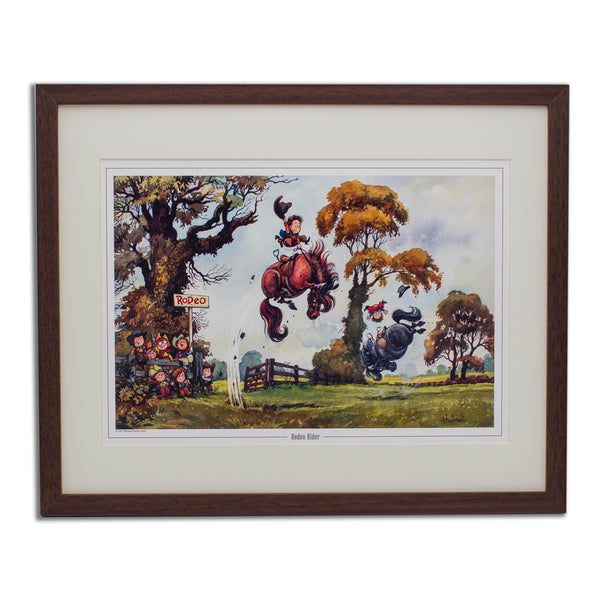 Cartoon Pony Print. Rodeo Rider by Thelwell.