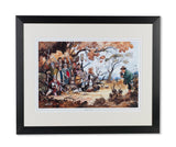 Shooting print by Thelwell. The Rough Shoot. Framed, mounted and embossed