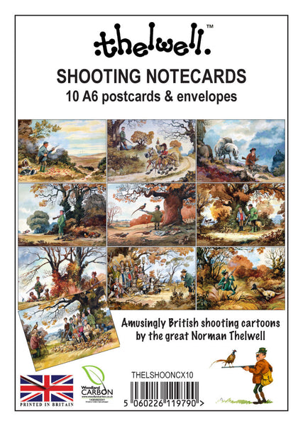 Thelwells Shooting Notecards x10 (envelopes included)