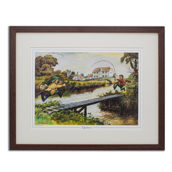 Fun fly fishing print. Tightlines by Thelwell