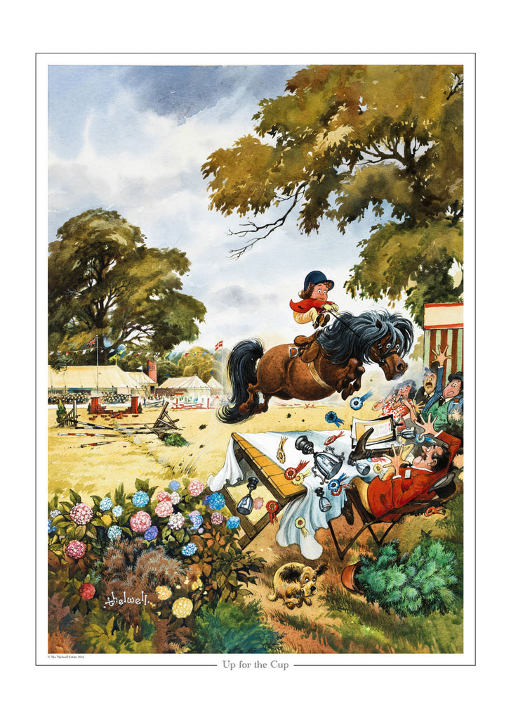 """Up for the cup"" Thelwell open edition print"