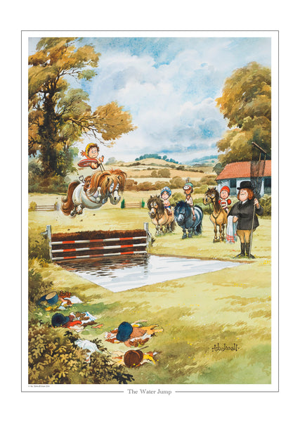 """The water jump"" Thelwell open edition print"