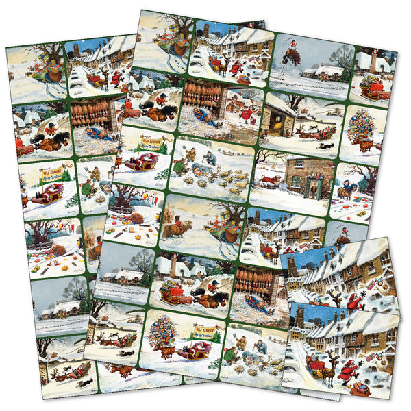 Horse, pony, sheep, dog, reindeer Christmas wrapping paper