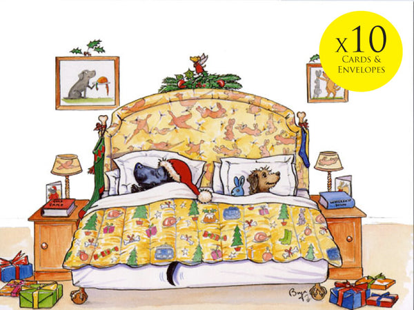 10 x Dog themed Christmas Cards by Bryn Parry. Christmas Eve