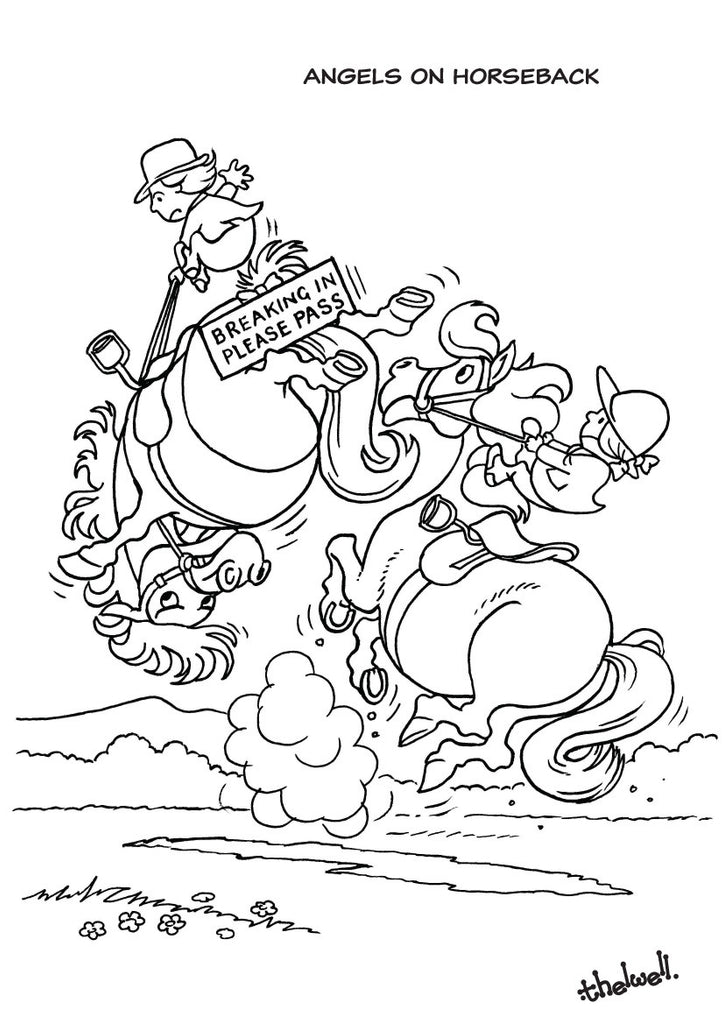 Thelwell's Colouring Book. 22 pages, A4 size, featuring