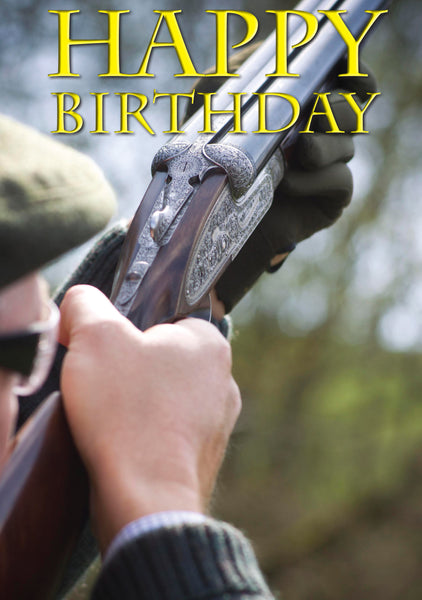 Shooting Birthday Card. Side by Side by Charles Sainsbury-Plaice