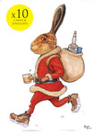 10 cartoon christmas cards. Hare Restorer by Bryn Parry
