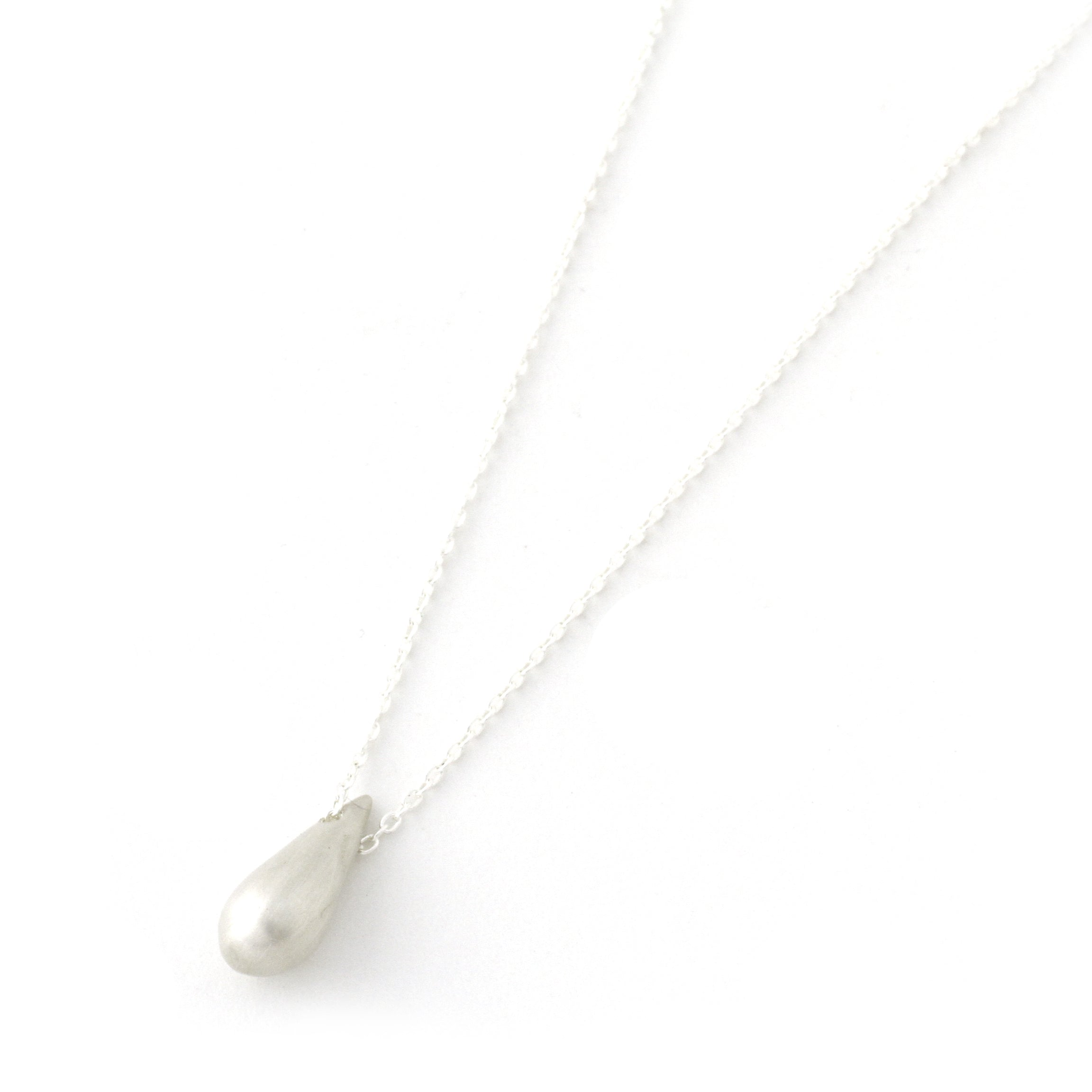 Raindrop Necklace (Large Sterling Silver)