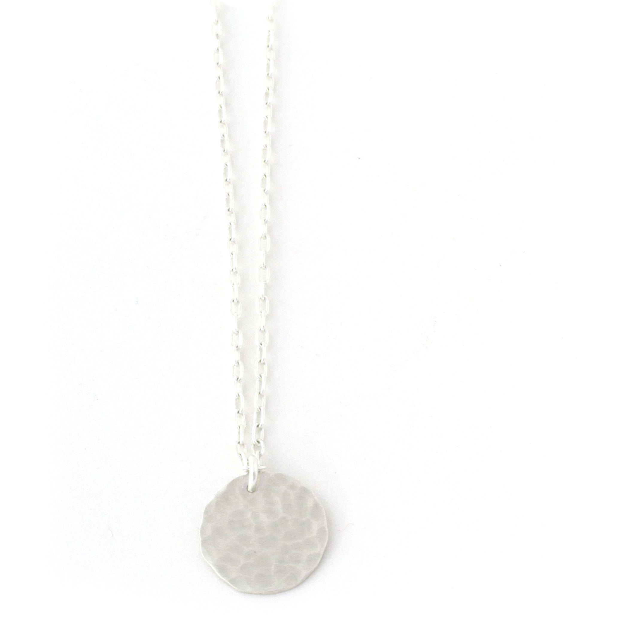 Luna Hammered Necklace (Small)
