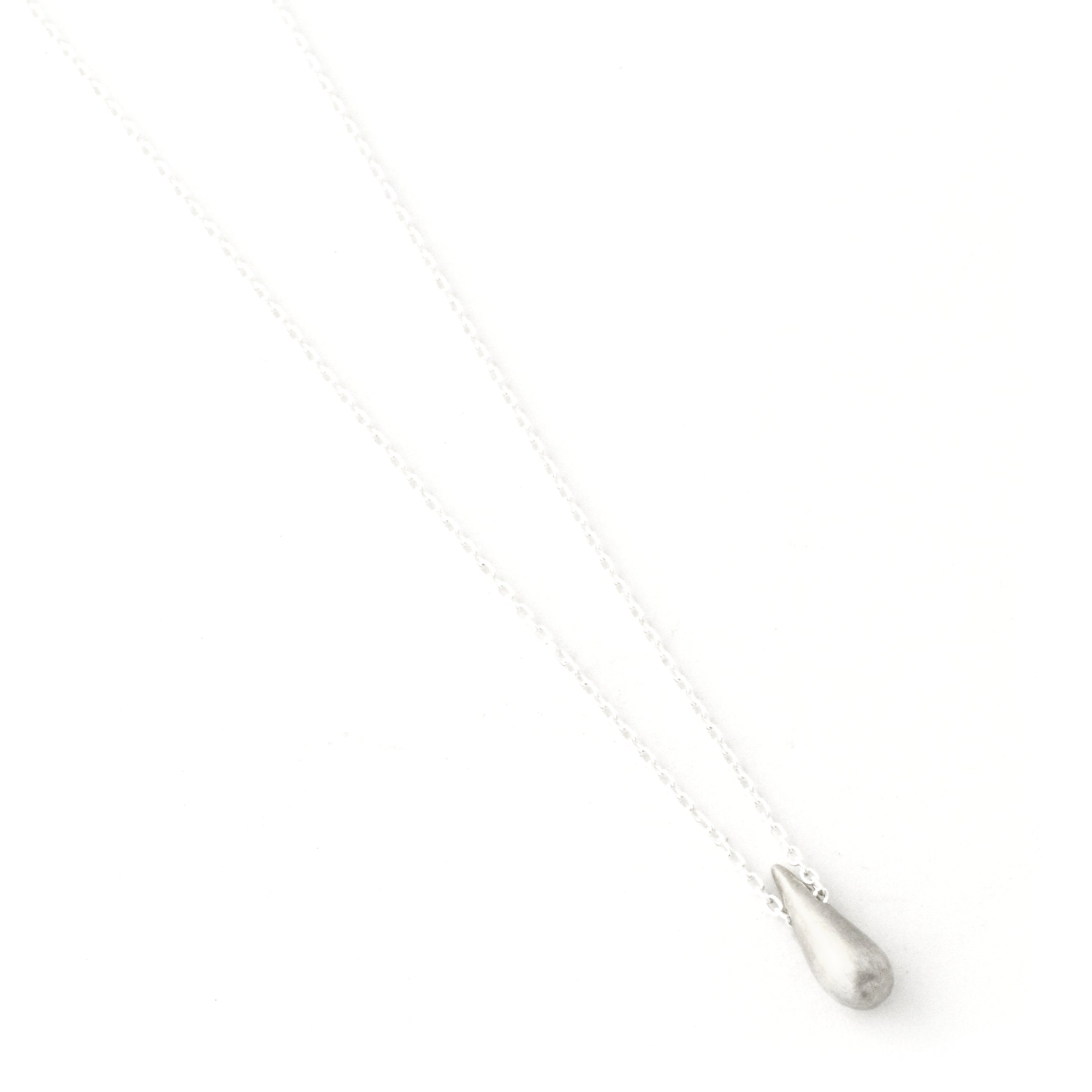 Raindrop Necklace (Small Sterling Silver)