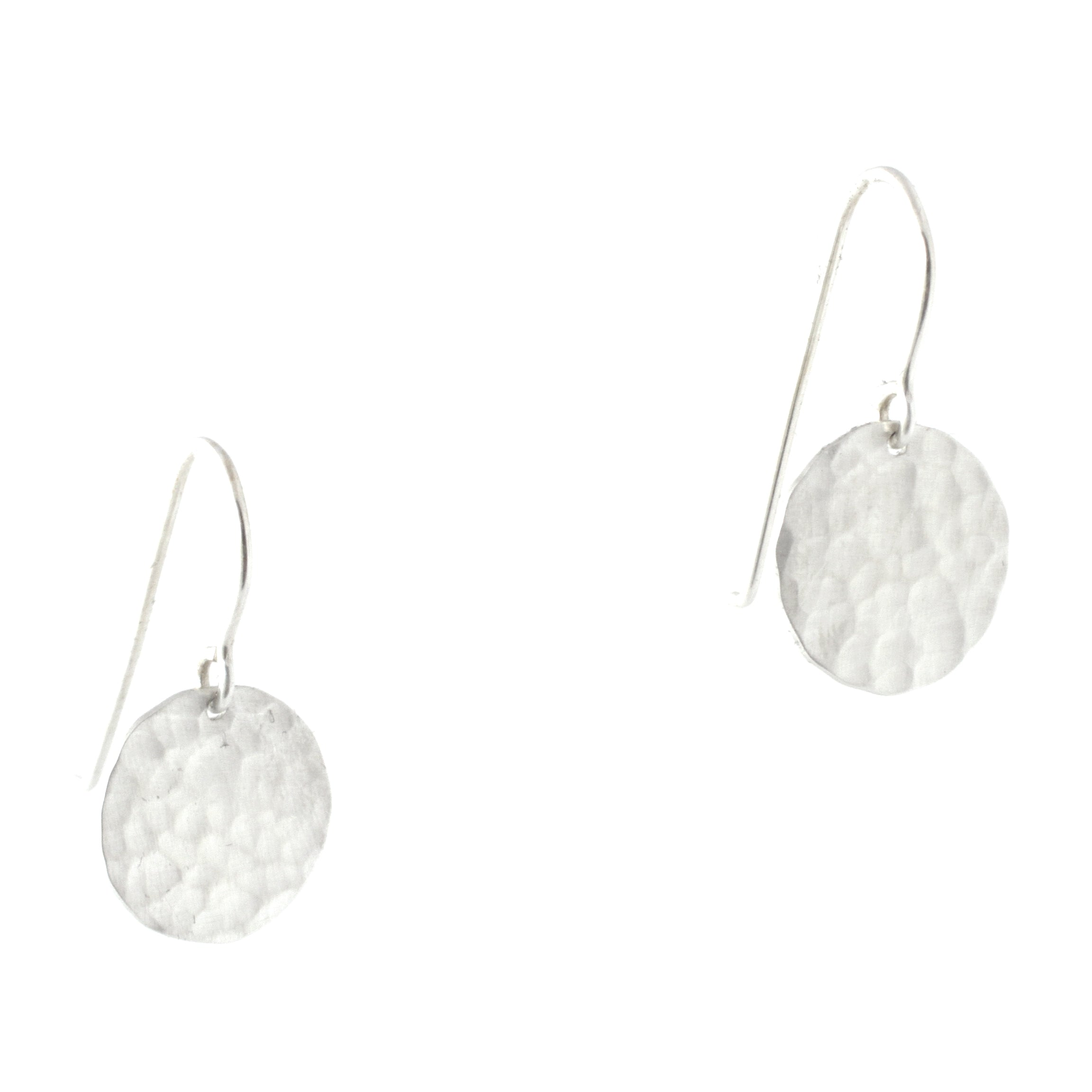 Luna Hammered Earrings (Small)