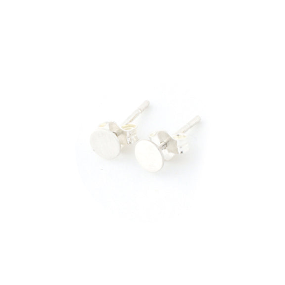 Tiny Circle Stud Earrings (SS & GF)