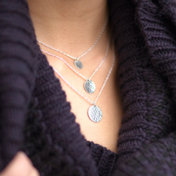Luna Hammered Necklace (Tiny)