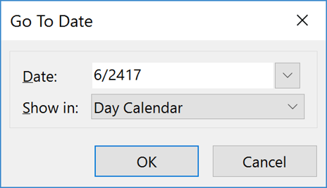 Quickly Find Dates in Outlook
