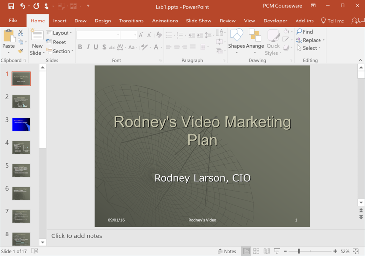 How to copy the theme of one PowerPoint presentation to another