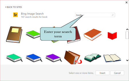 Quickly Insert Online Images in Office 2016 Documents