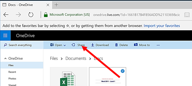 How to Share a Link to Your OneDrive Files and Folders
