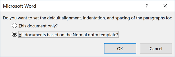 Choose All Documents based on Normal Template