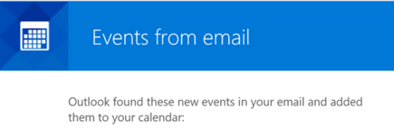 Events from Email message box