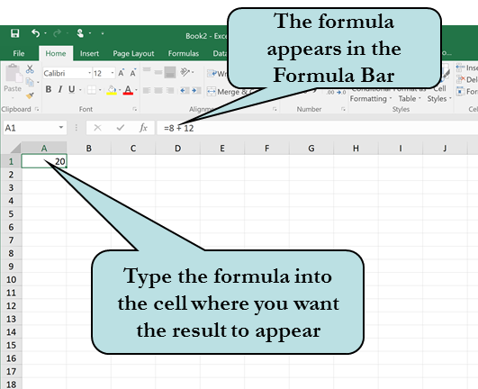 Entering Formulas in Excel