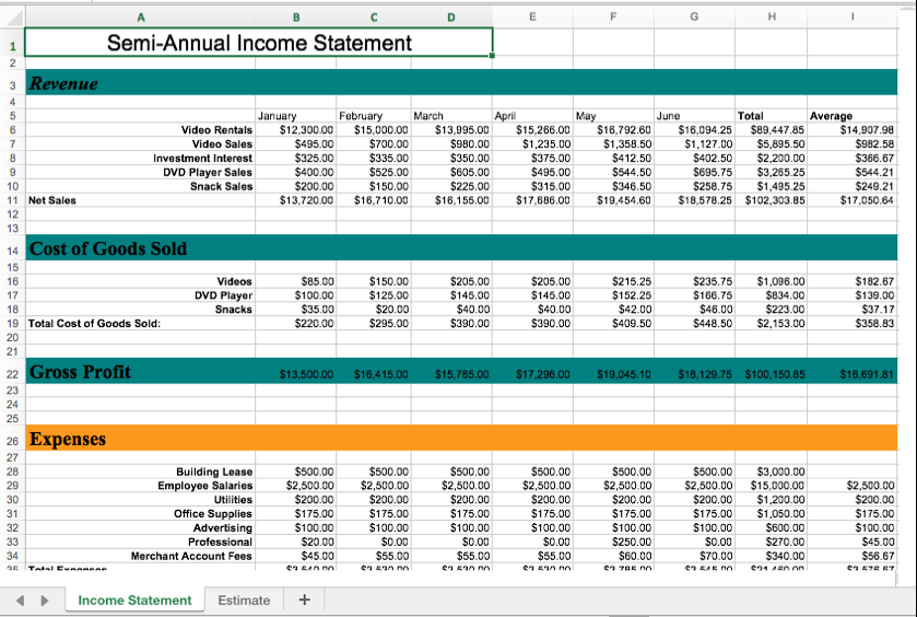Screenshot of a large spreadsheet