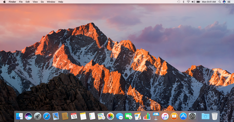 macOS Sierra screen