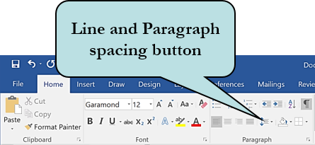 Line and Paragraph Spacing icon