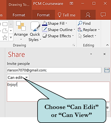 Can Edit button on PowerPoint share window