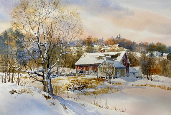 Winter Barn - original