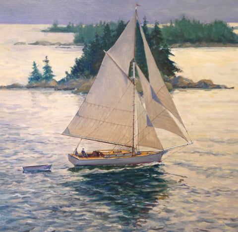 Friendship Sloop Along Coast