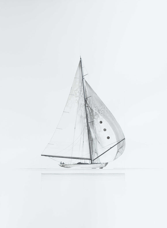 A Sailboat -orig w/c
