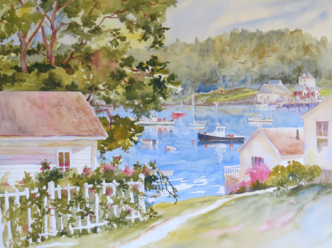 Stonington - original watercolor