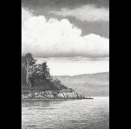 Turtle Head, Islesboro - original drawing