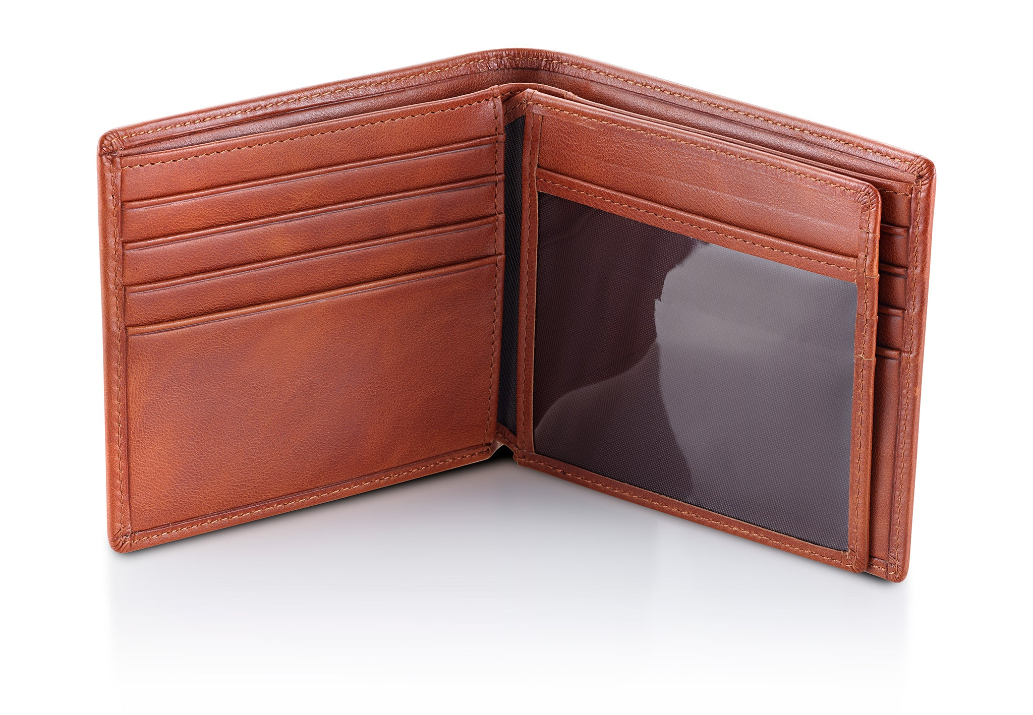Light Brown Bifold Wallet with RFID Blocking and ID Holder