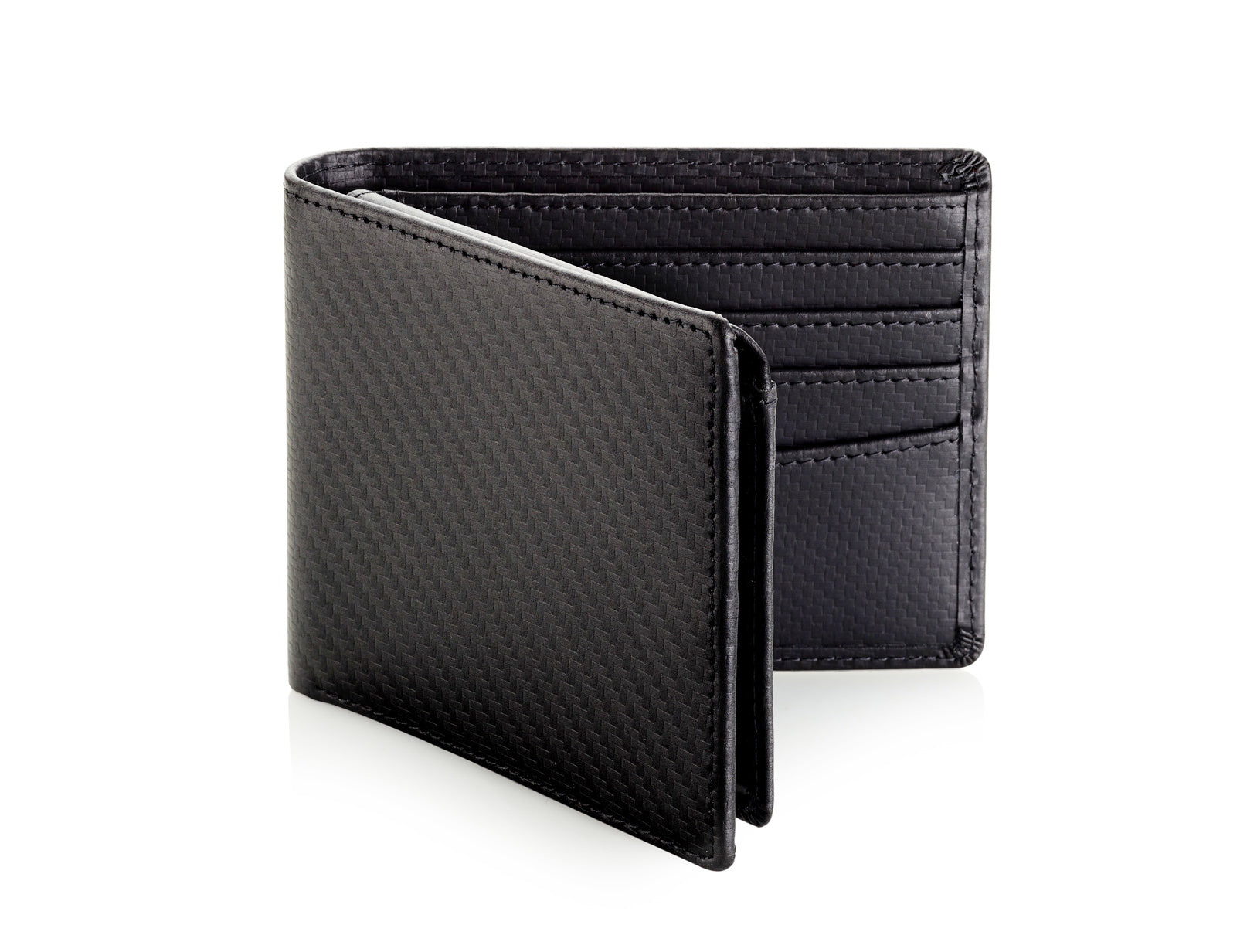 Carbon Fiber Wallet for Men With ID Window and RFID Blocking