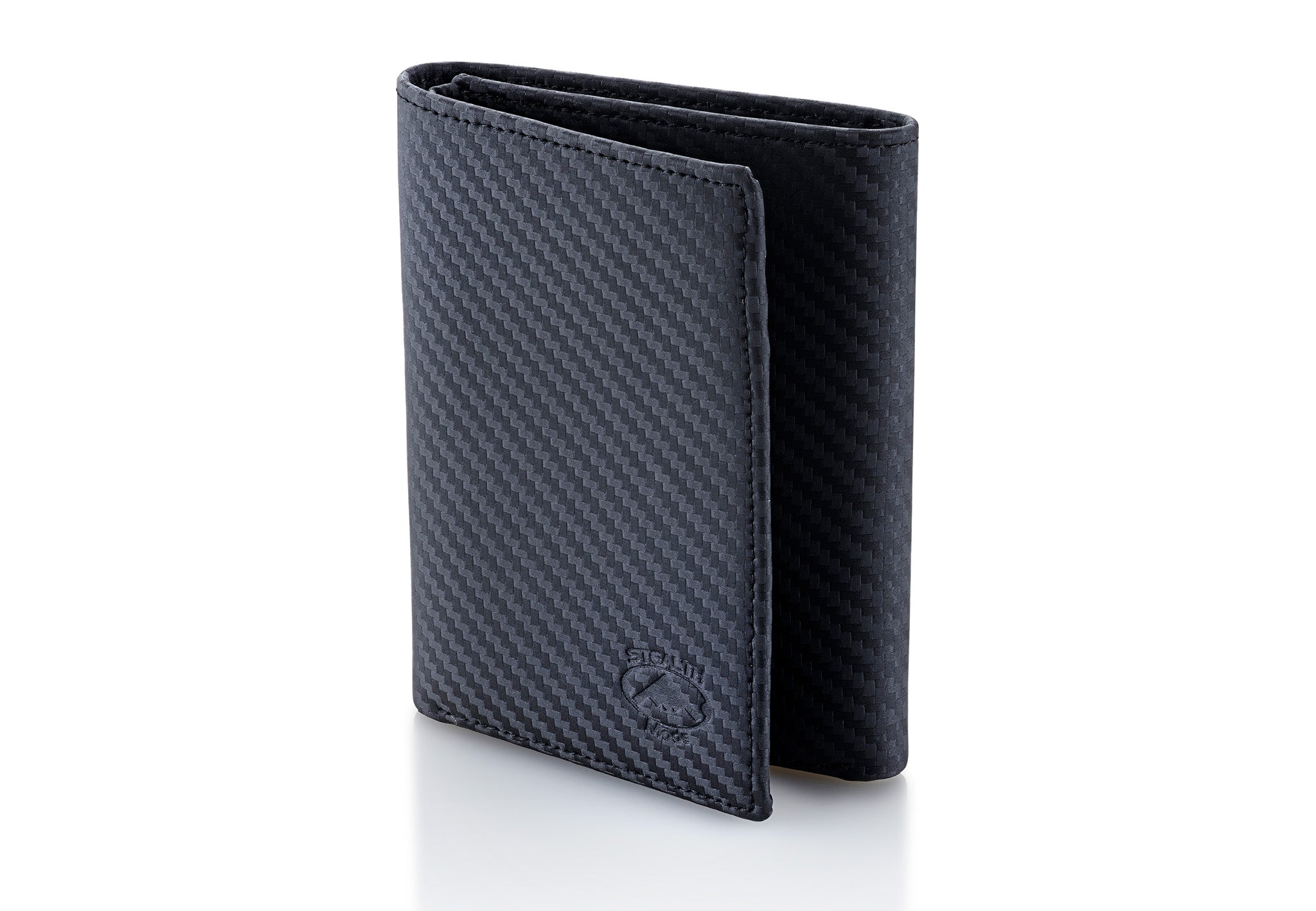 a159df58509f Stealth Mode Trifold RFID Blocking Carbon Fiber Wallet for Men