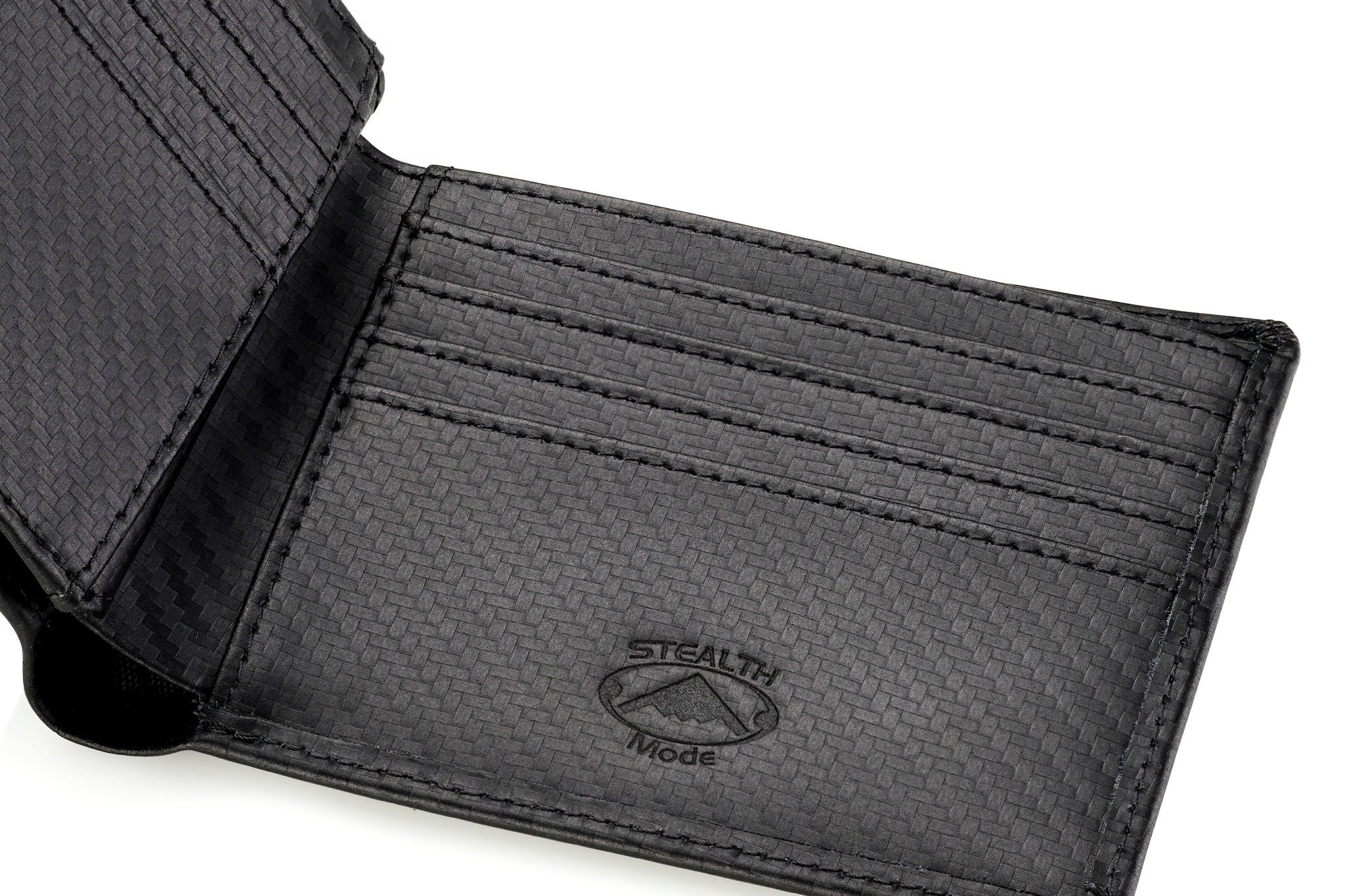 Carbon Fiber Bifold Wallet with RFID Blocking and Flip Out ID Holder