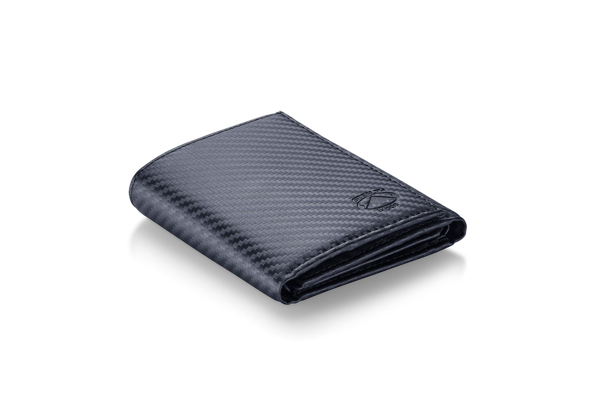 Carbon Fiber Trifold RFID Wallet For Men With Flip Out ID Holder