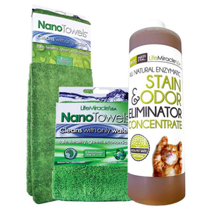 All-Natural Enzyme Concentrate x 1 (16oz) + NanoTowel x 1 + Super NanoTowel x 1 - Special Price
