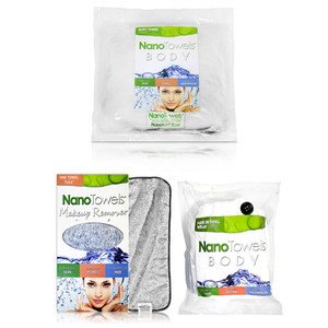 Bathroom Bundle Kit (1 x Full Body Nano + 1 x Hair Dry Wrap + 1 x Makeup Remover Towel)