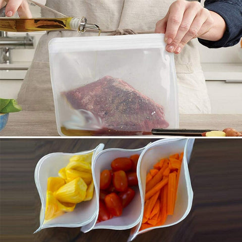 Image of Silicone Food Bag - 6 Pack*
