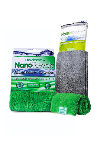 Image of 2-Pack NanoTowel (Green + Grey) - $34.95